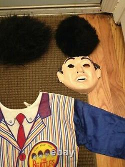 Vintage The Beatles John Lennon & Ringo Starr Halloween Costume Lot In Box Rare