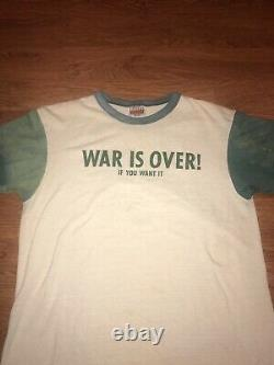 Vintage The Beatles T Shirt War is Over John Lennon Yoko 1978 MosquitoHead Sz L