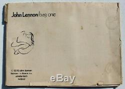 Vtg 1970 The Beatles / John Lennon Bag One Lithograph ArtWork Catalog Set
