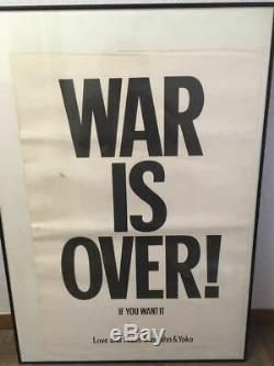 WAR IS OVER! Original Poster John Lennon Yoko Ono Love and Peace from HappyXmas