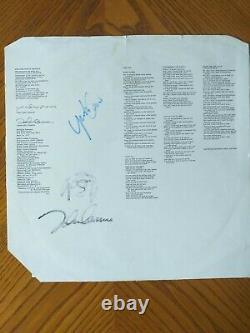 WONDERFUL Genuine Signed album inner sleave signed by JOHN LENNON and YOKO ONO