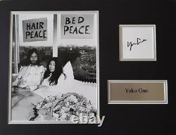 YOKO ONO Signed 16x12 Photo Display JOHN LENNON THE BEATLES COA